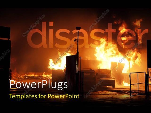 free fire truck powerpoint template