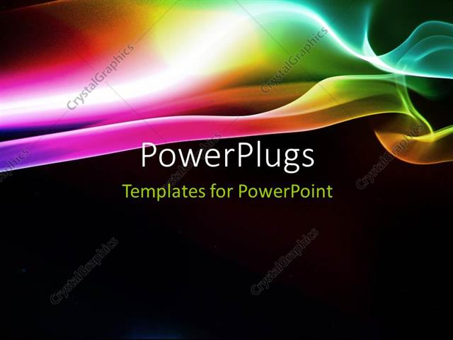 PowerPoint Template Elegant puff of rainbow smoke with black color
