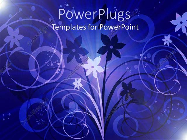 PowerPoint Template a floral view with purple background (17909)