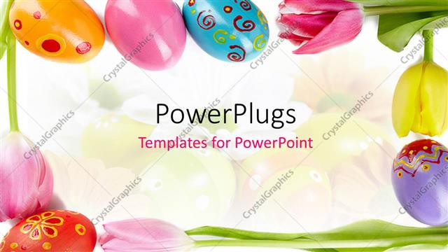 PowerPoint Template a number of easter eggs with colorful