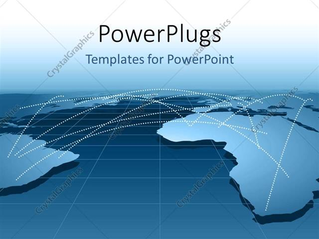 PowerPoint Template Global business relationship distribution - global powerpoint template