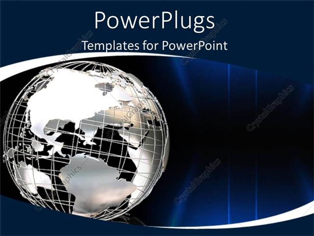 PowerPoint Template globe world graphic as a metaphor global issues - global powerpoint template