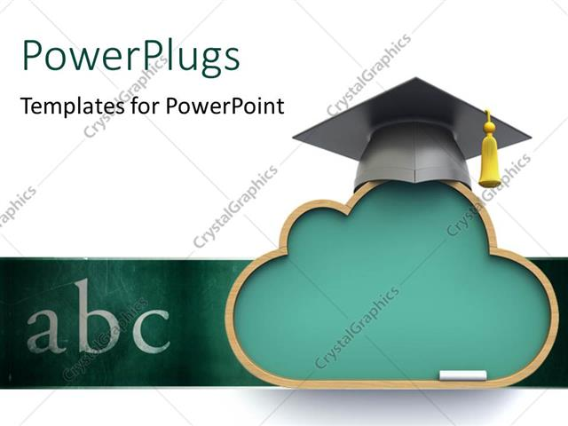 PowerPoint Template a graduation cap with the words abc (10981) - graduation powerpoint