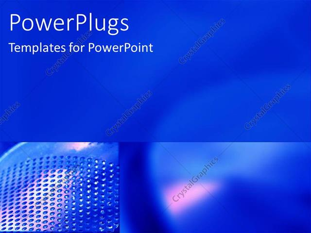 PowerPoint Template a plain dark blue background with a dotted side