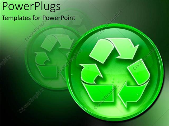 PowerPoint Template recycling sign environmentally friendly go - recycling powerpoint templates