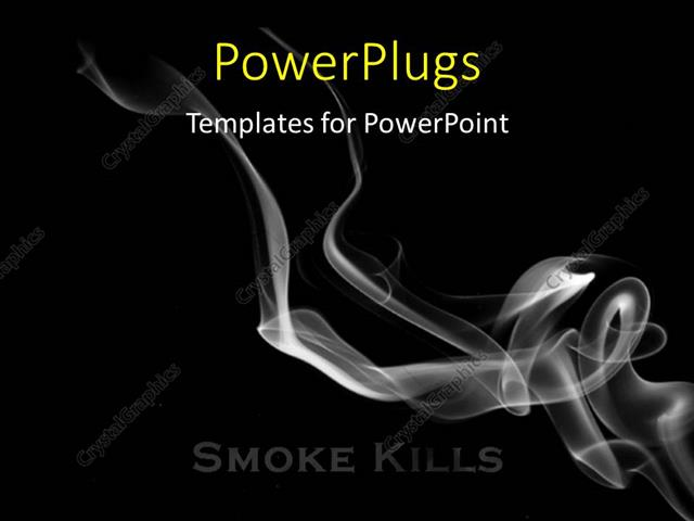PowerPoint Template Smoke flowing over a black background, smoking