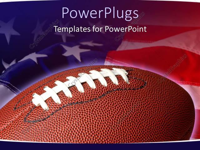 Football powerpoint template nfcnbarroom powerpoint template sports theme with football on waving american toneelgroepblik Images