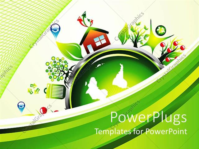PowerPoint Template Symbols of recycling and environmentalist - recycling powerpoint templates