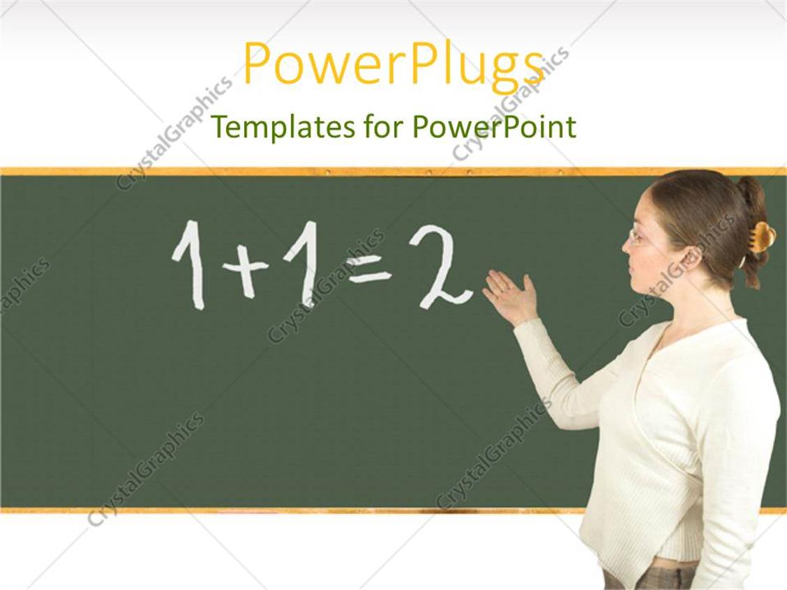 Teaching Maths Powerpoint Template A Teacher In A Classroom Teaching Maths 10580