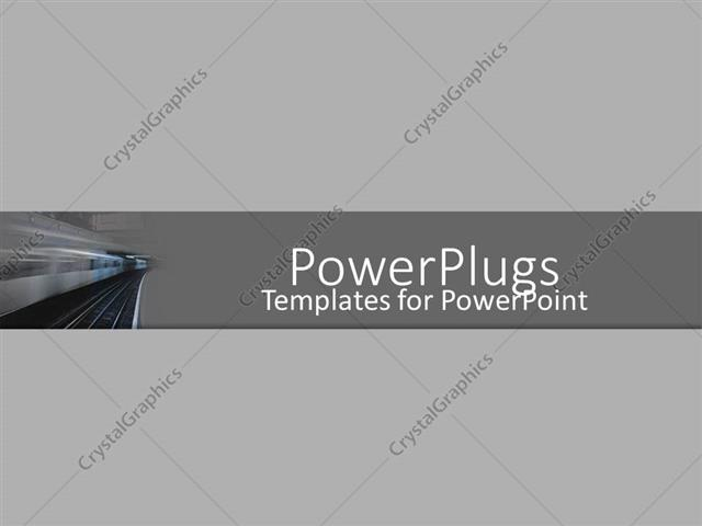 PowerPoint Template a train with a grey background (30455)