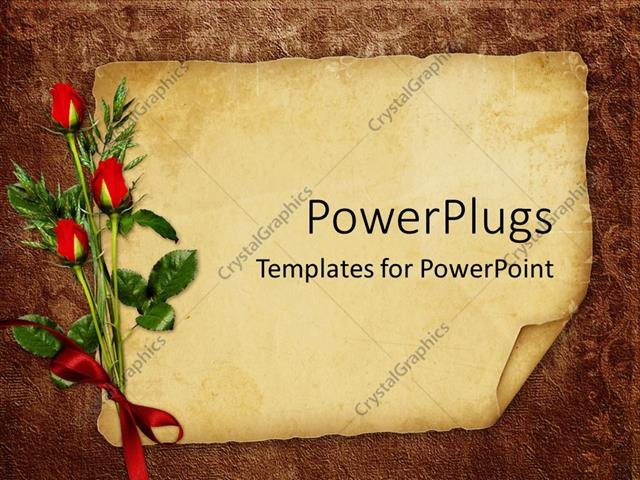PowerPoint Template vintage background with old paper for