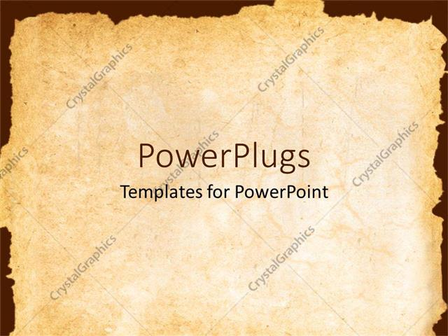 PowerPoint Template vintage background showing old paper with