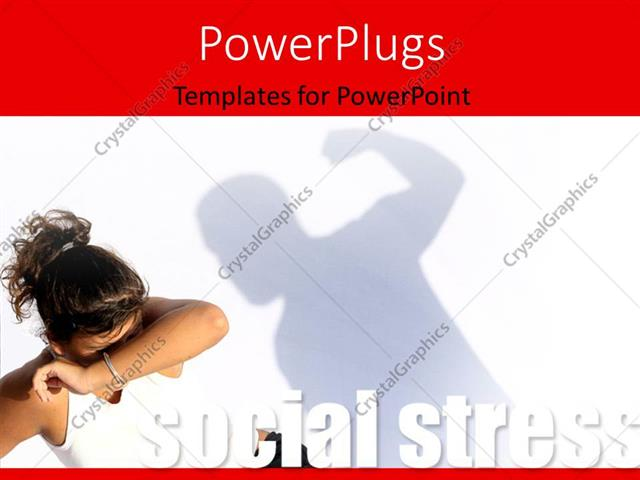 PowerPoint Template Violent man hitting frightened woman, social