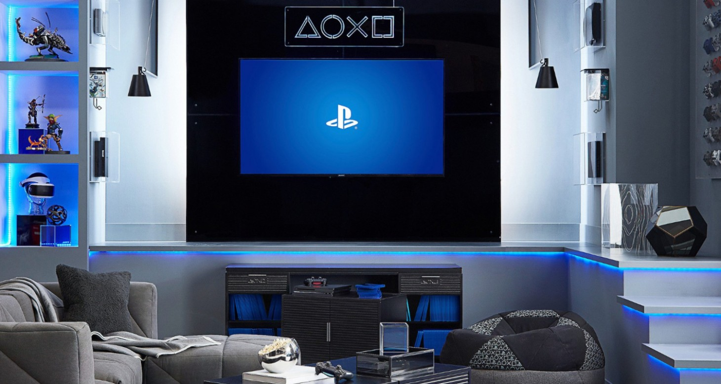Sofa Gaming Amazon Pottery Barn Introduces Playstation Home Decor Line Up
