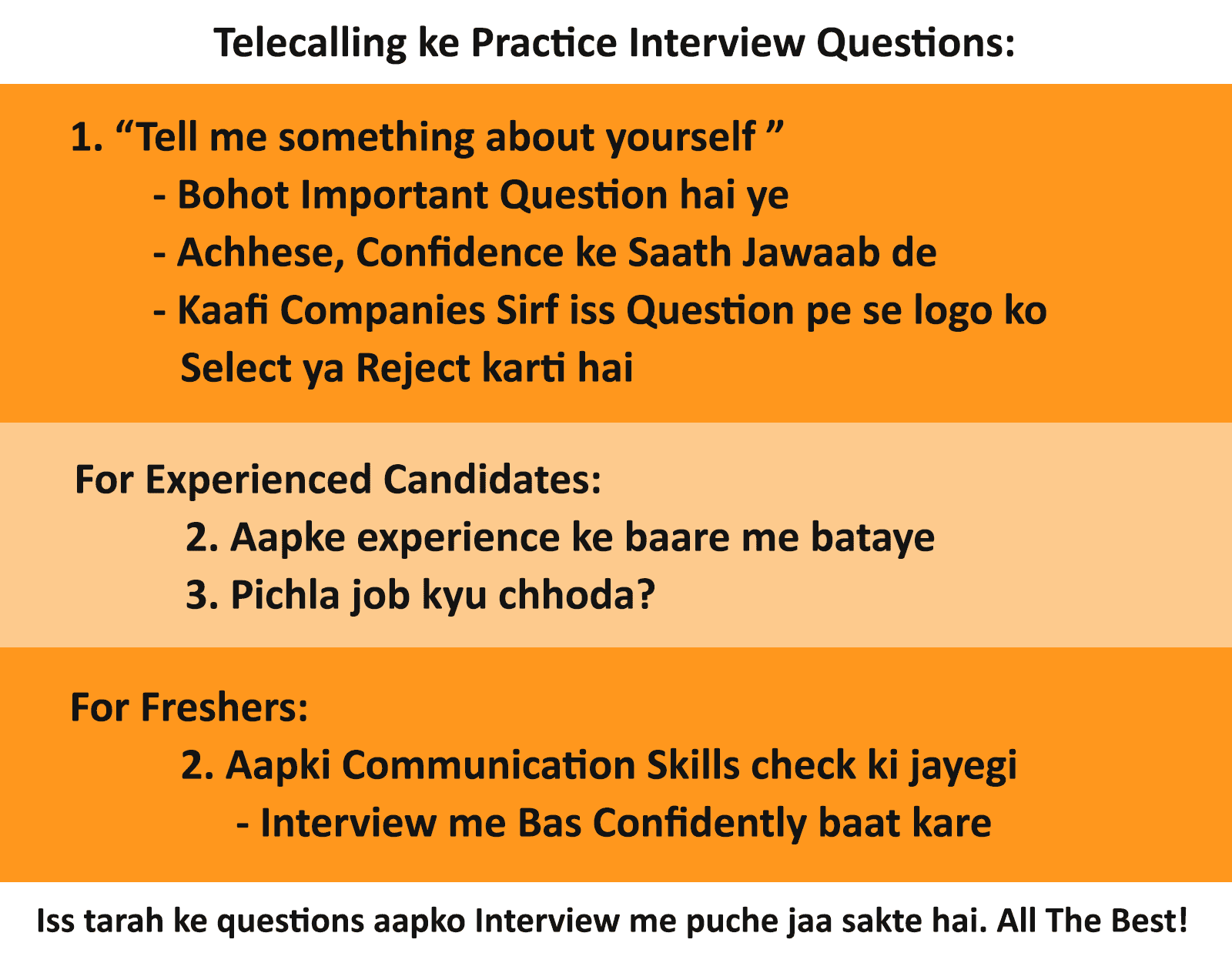 Customer Service Questions Interview Questions And Tips For Telecalling Customer Service