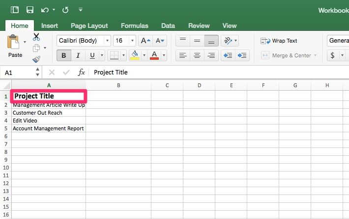 Project Tracking Template in Excel - Priority Matrix Productivity - project tracking template
