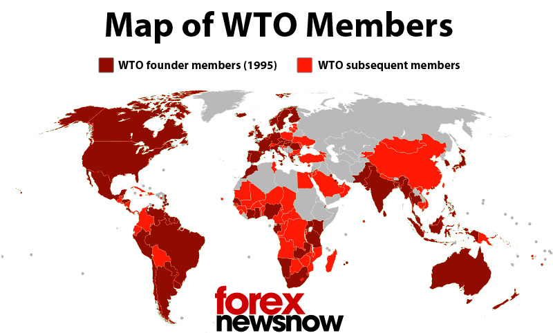 This map shows the member states of the World Trade Organization - Contract Examples Between Two Parties