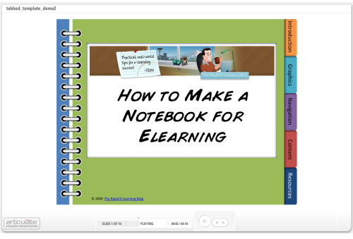 Rapid E-Learning Workshop How to Create a Tabbed Notebook The - create power point