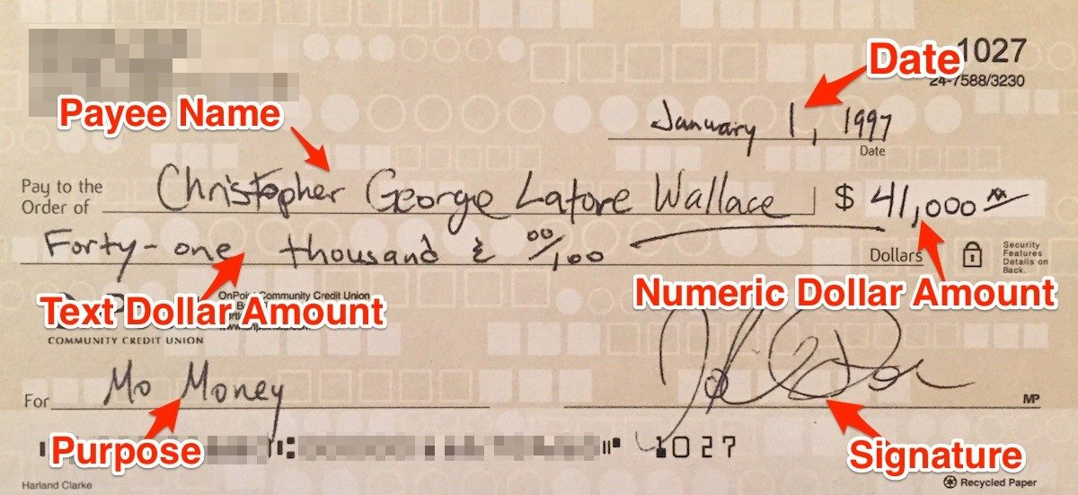 How to Write a Check The Dummies Guide to 1st Century Technology - how to write a