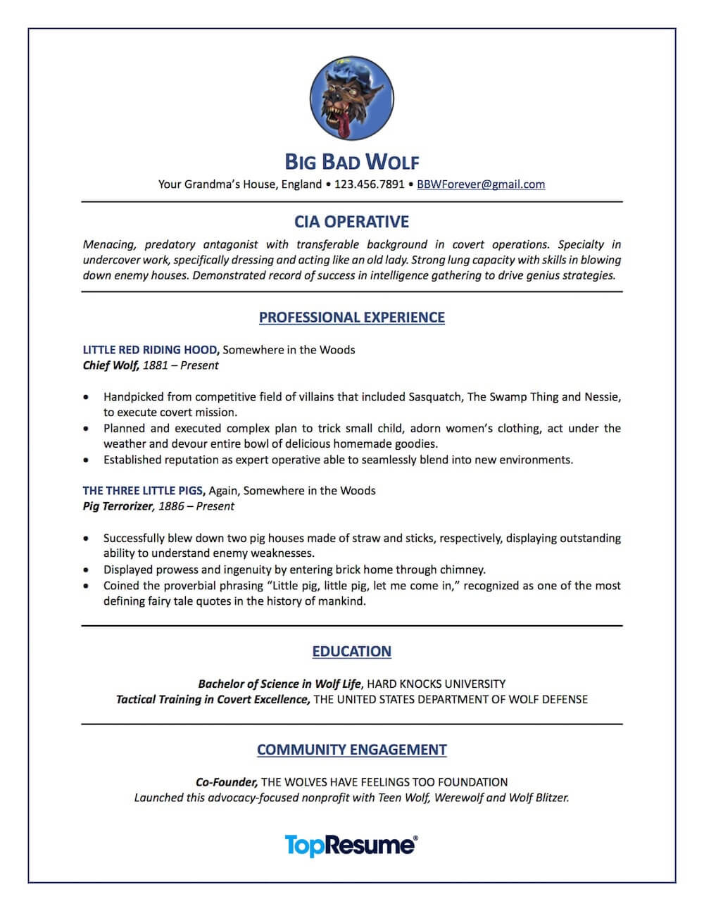 transferrable skills resume sample