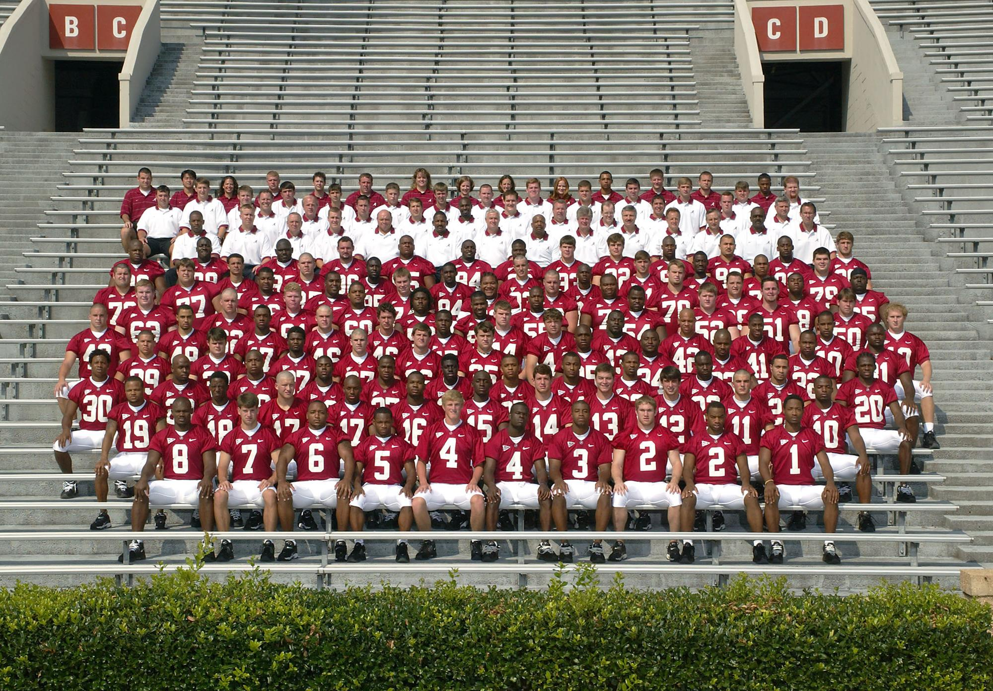 Alabama Football Roster 2002 Football Archives University Of Alabama Athletics