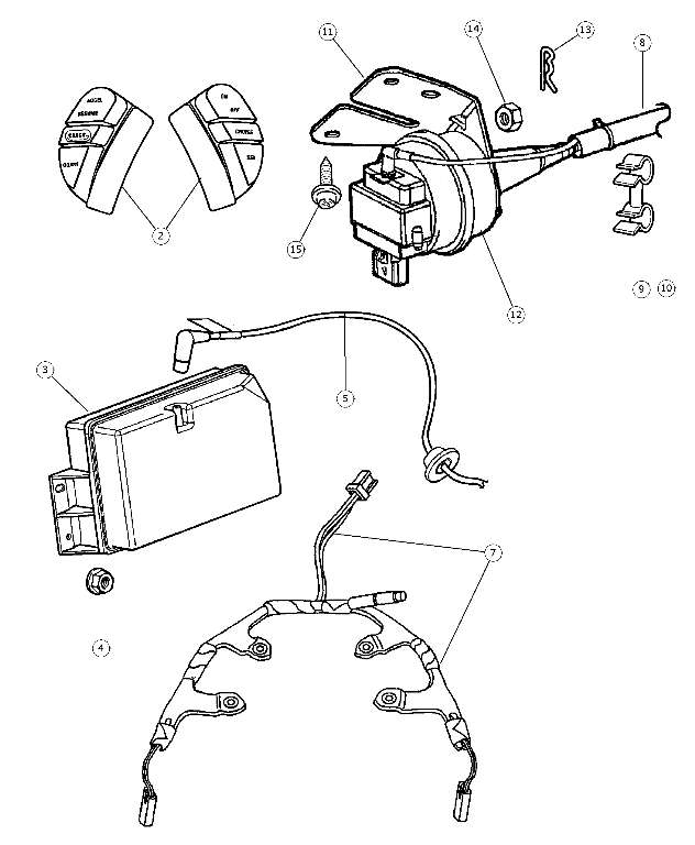 1993-2007 Mopar Speed Control Kit - Reservoir, Vacuum 55035614 Don