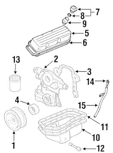 6 pontiac engine parts