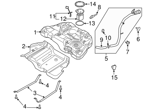 ford fusion fuel filler tube