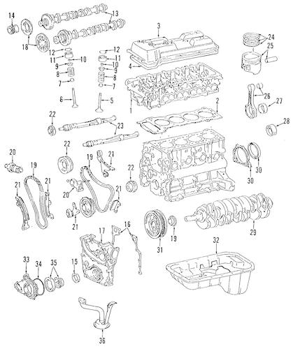 1995 toyota tacoma engine diagram