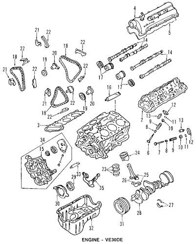 2003 nissan altima 2.5 engine parts diagram