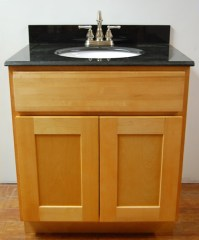 Natural Shaker Bathroom Vanities - RTA Cabinet Store