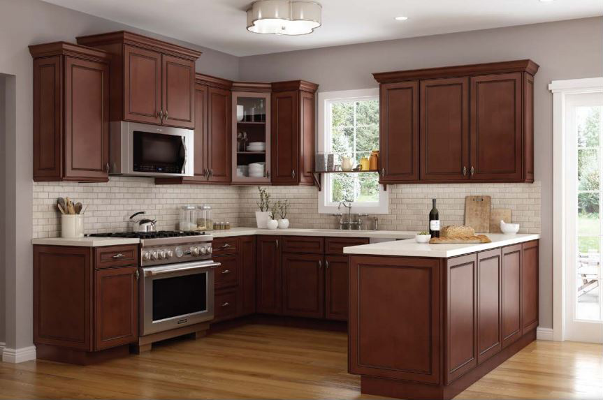 Pre Assembled Kitchen Island Cart Cambridge Chocolate Kitchen Cabinets | Rta Cabinet Store
