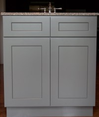 Stone Grey Shaker Bathroom Vanities - RTA Cabinet Store