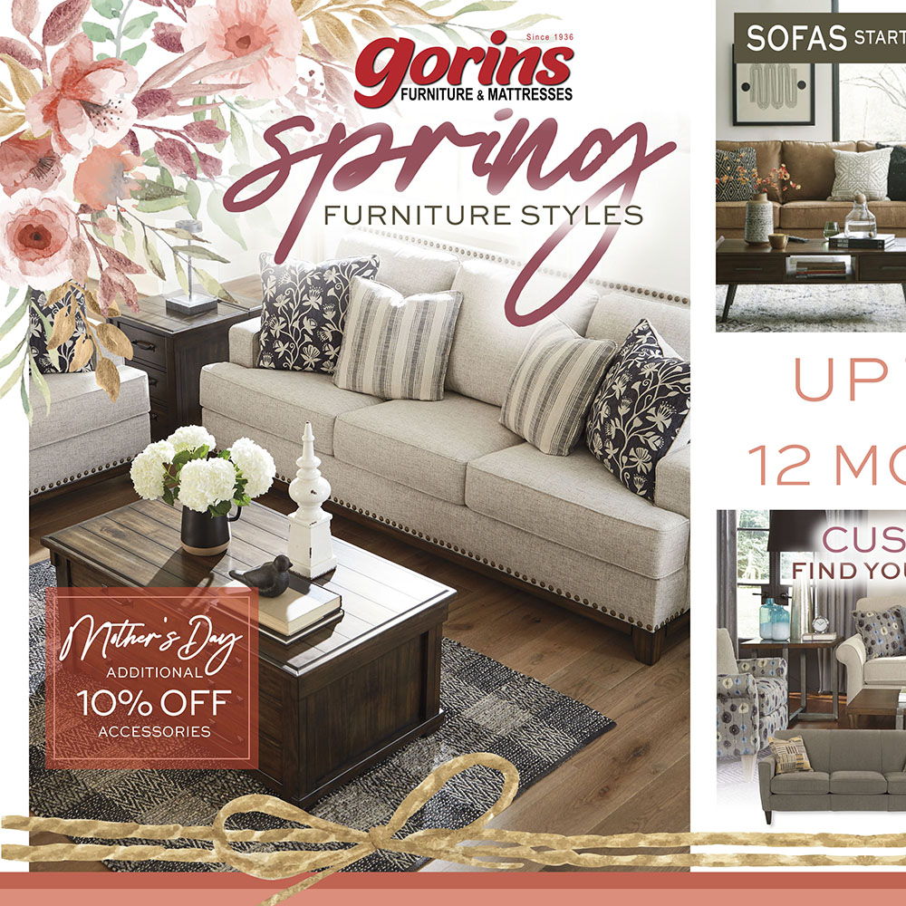 Store Flyers Gorins Furniture And Mattress