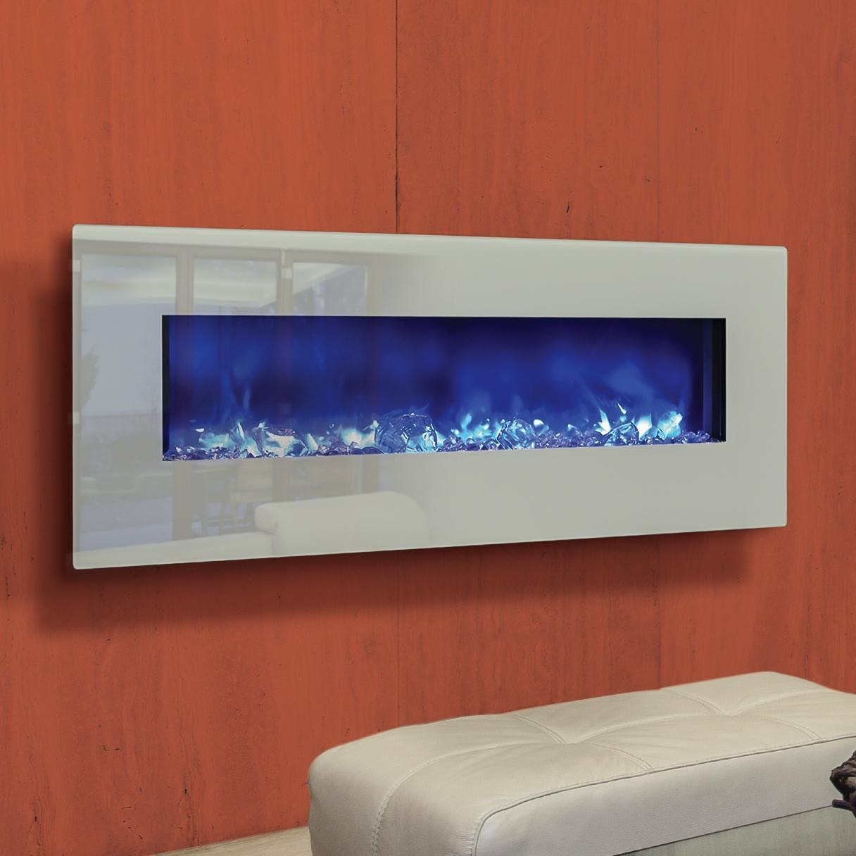 Electric Fireplace Built Into Wall Amantii Fire Ice Series 48