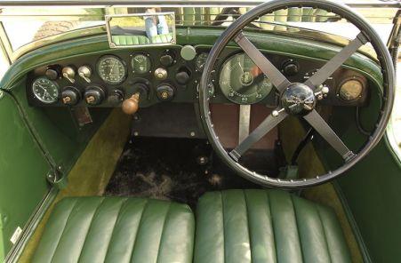 Interior, 1928 Bentley 4.5 Litre Semi-Le Mans Tourer