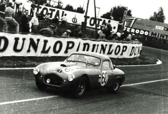 1955 Frazer Nash Le Mans Coupe on track at Le Mans