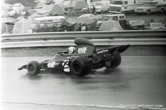 Chris Amon aboard the third Tyrrell