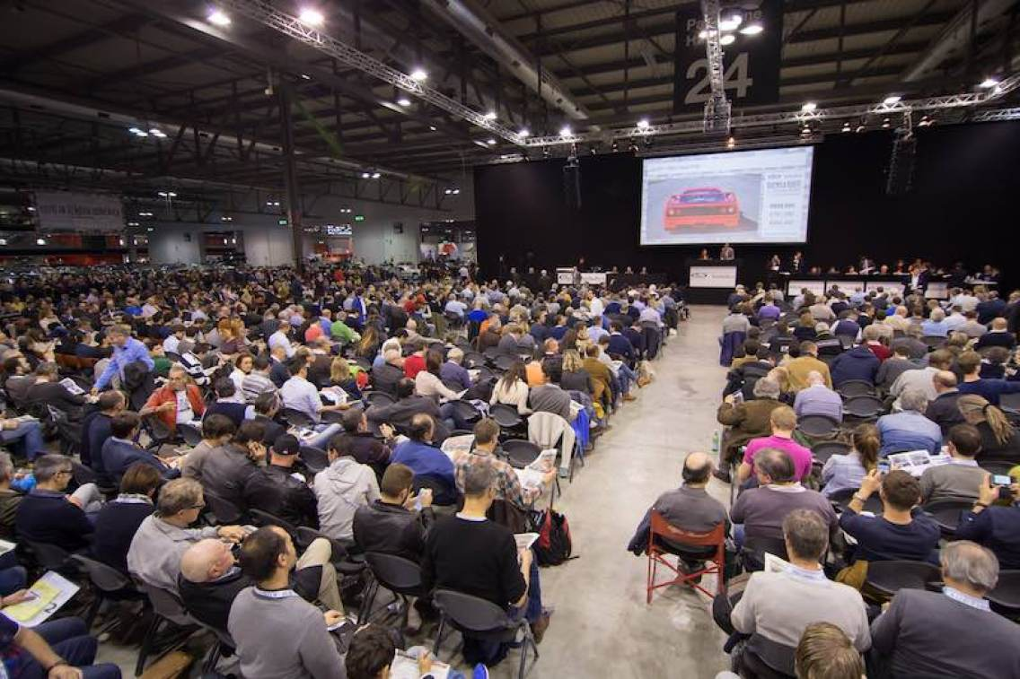 Bidders flocked to the 817-lot, without reserve Duemila Ruote sale, with a full auction area across the 30 hours of auction time