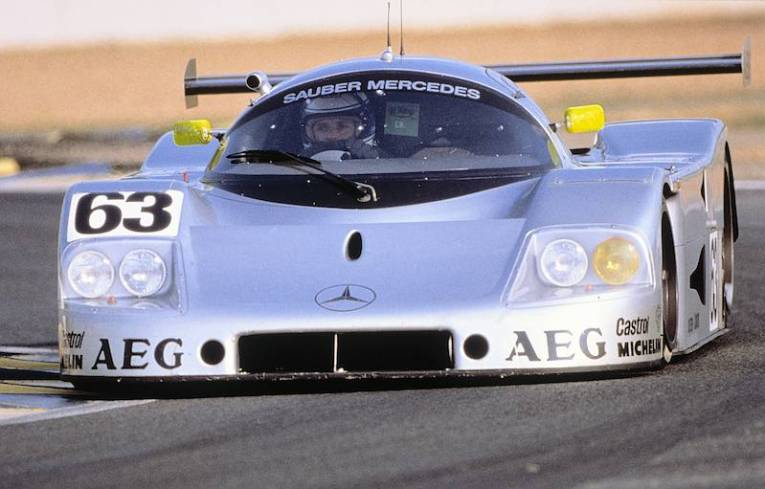 24 Hours of Le Mans, 10-11 June 1989. Sauber-Mercedes C 9, Group C racing car,. Starting number 63 – winners: Jochen Mass / Manuel Reuter / Stanley Dickens.