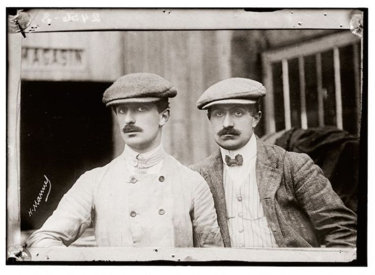 Gabriel Voisin with brother Charles Voisin circa 1907