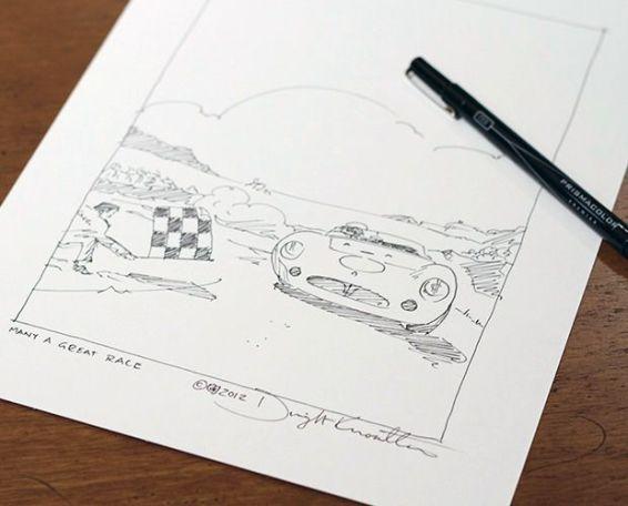 Many a Great Race Sketch