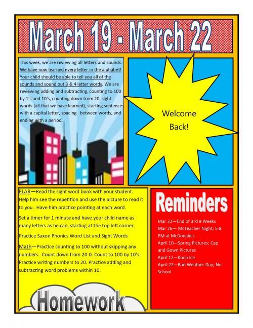 Finley-Oates Elementary - Newsletters