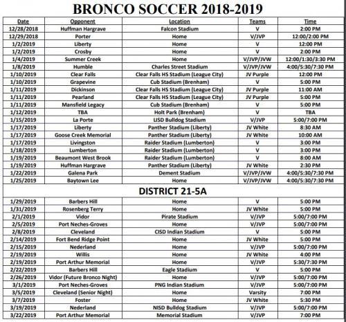 Dayton High School - Boys Soccer