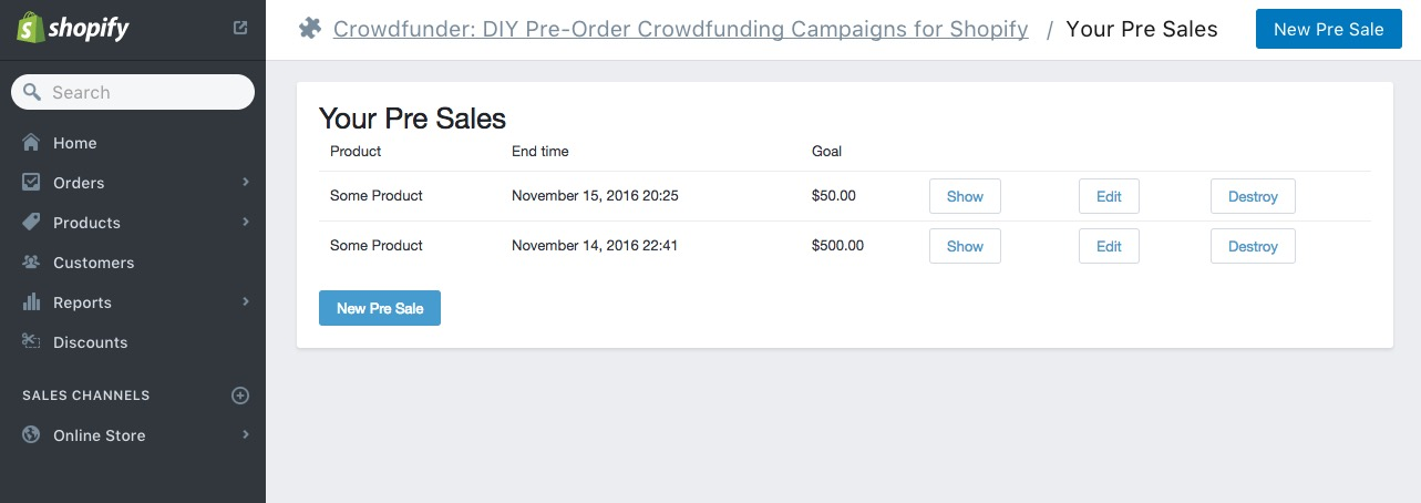Crowdfunder DIY Pre-Order Crowdfunding \u2013 Ecommerce Plugins for