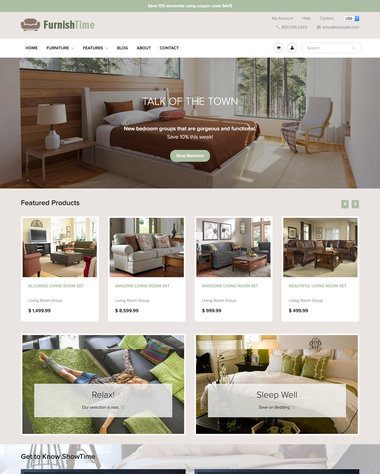 Furniture  Interior Design Ecommerce Website Templates - Free and