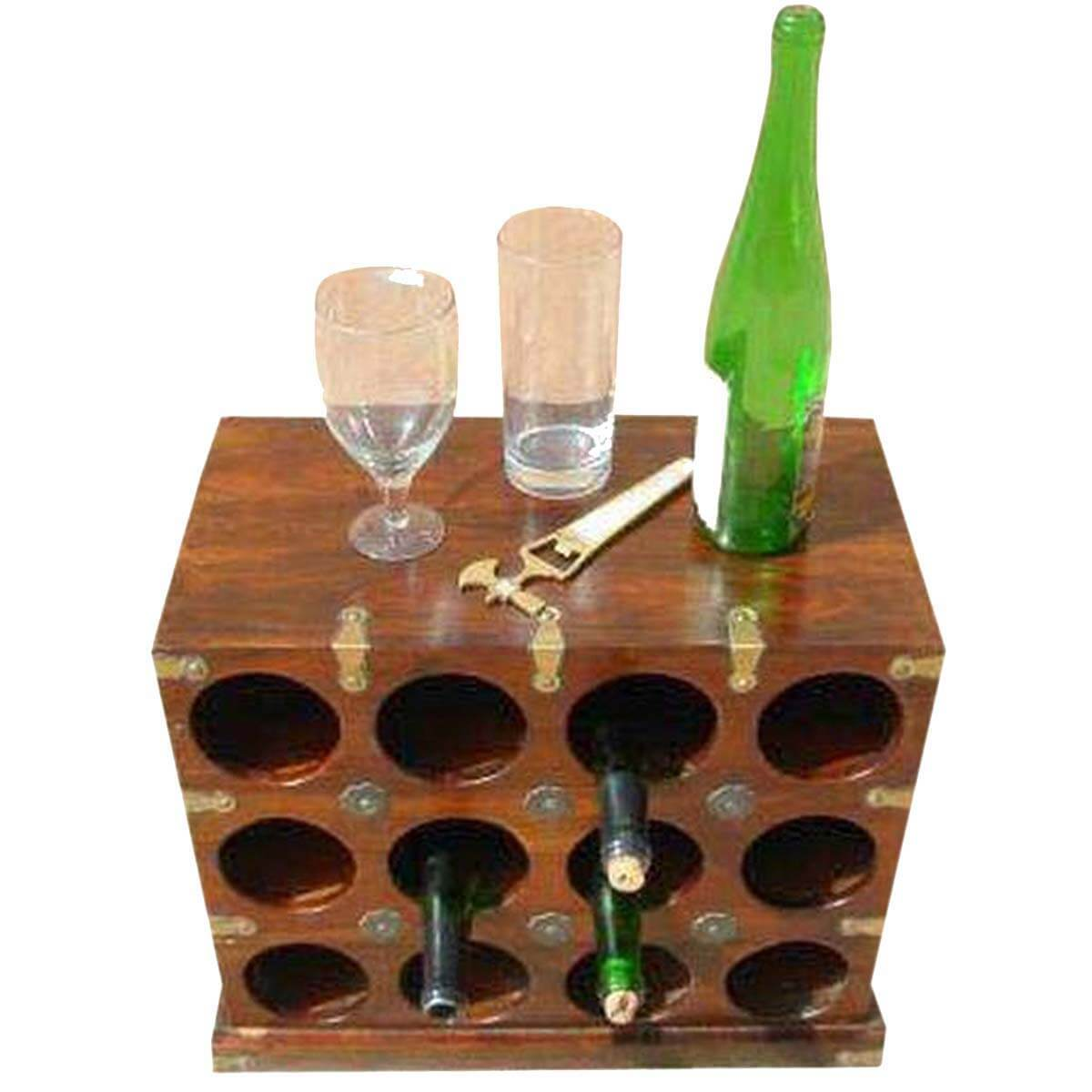 Wine Holder Stand Royal Solid Wood Wine Bottle Rack Holder Stand
