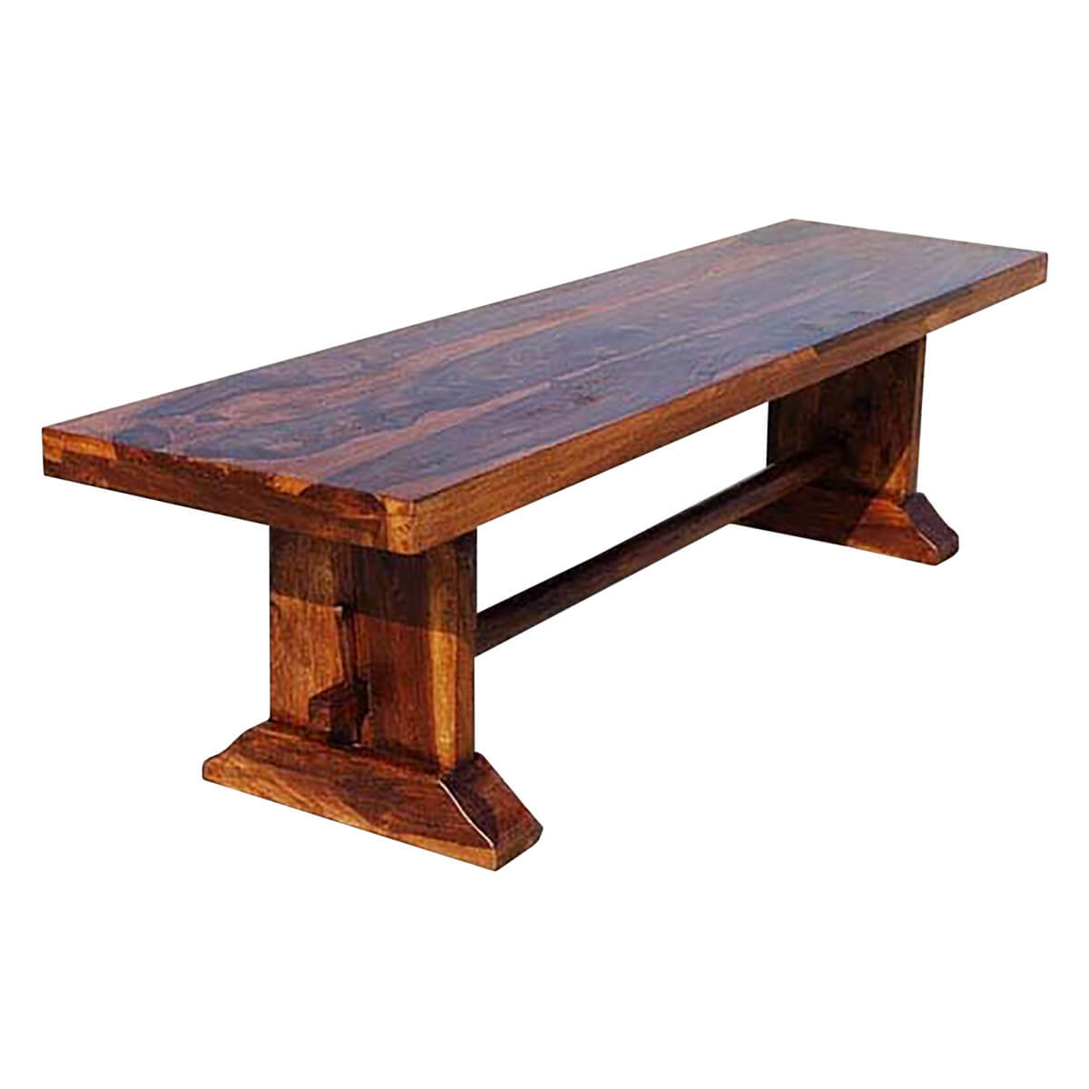 Wooden Bench Table Louvre Rustic Solid Wood Indoor Wooden Bench