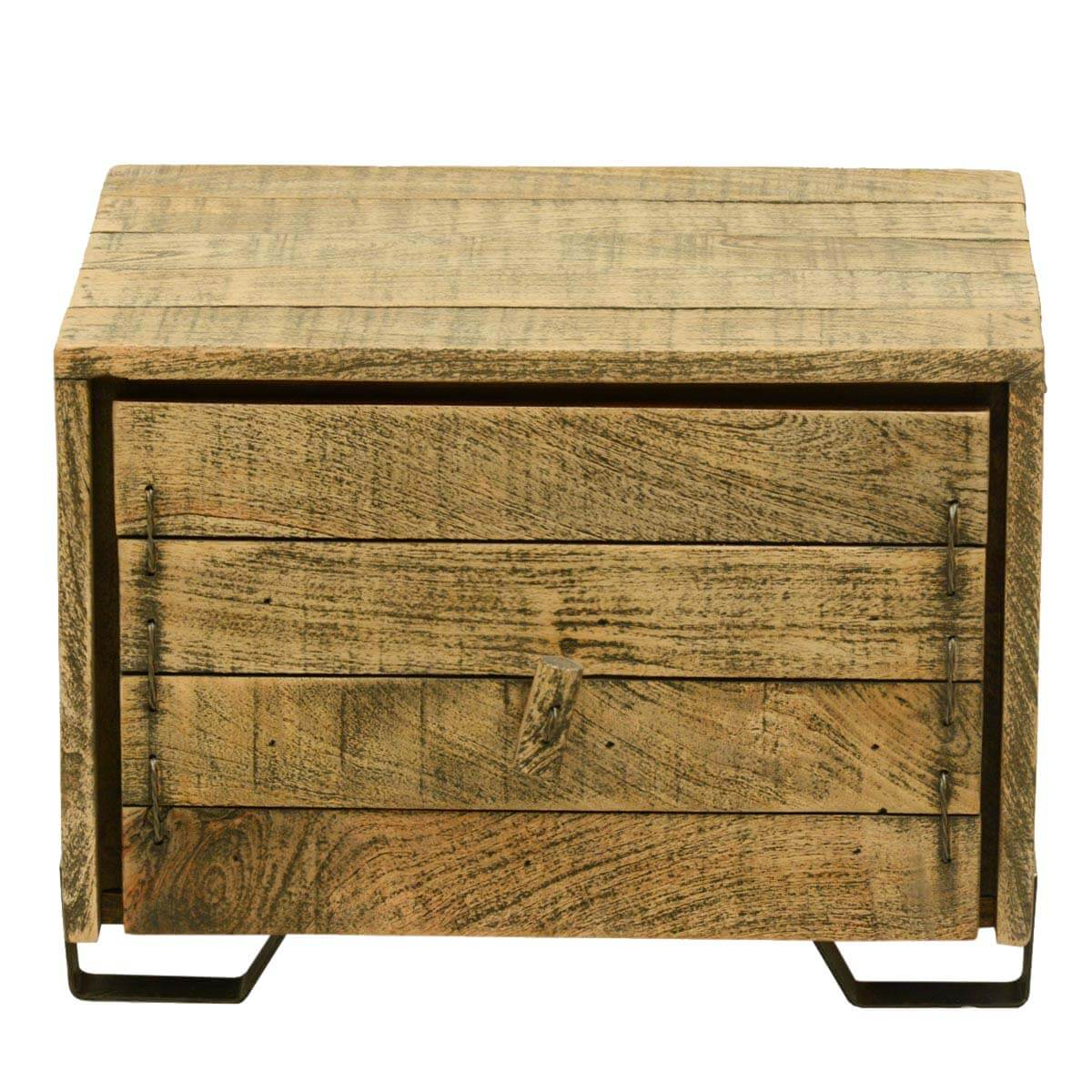 Rustic Wood End Table Rustic Simplicity Reclaimed Wood End Table Cube W Drawer