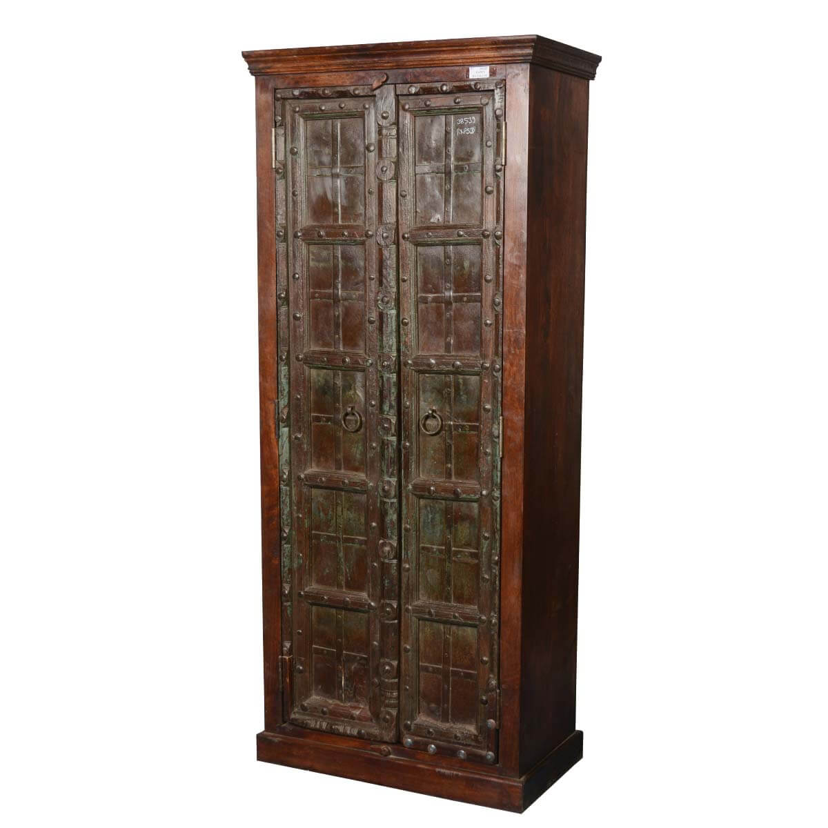 Dimension Armoire Bartelso Gothic Gates Solid Mango Reclaimed Wood Armoire Cabinet